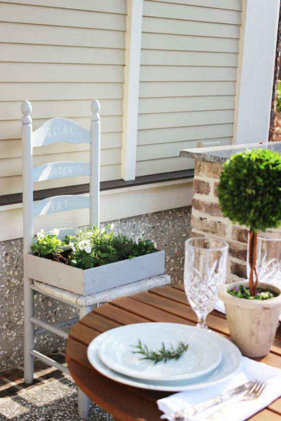 Upcycled Herb Garden