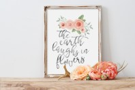 The Earth Laughs in Flowers Free Printable