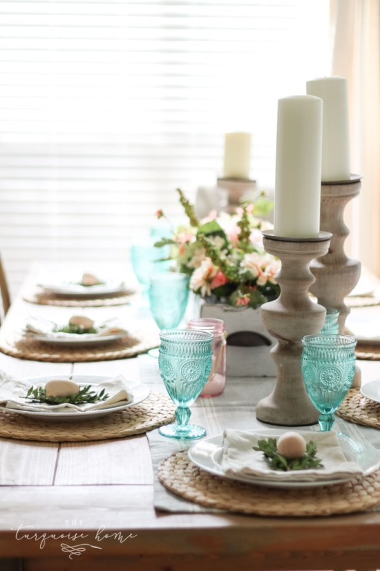 Simple Spring Tablescape