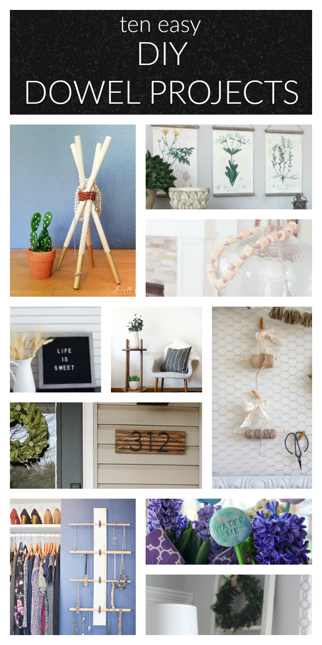 10 Simple DIY Wood Dowel Projects | www.makingitinthemountains.com