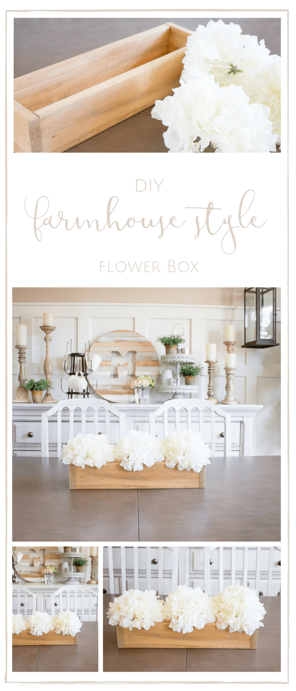 This farmhouse flower box was SO simple to create and makes for the perfect farmhouse decor all year round! | www.makingitinthemountains.com
