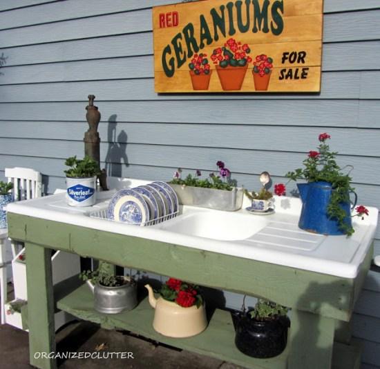 Outdoor Kitchen Potting Area