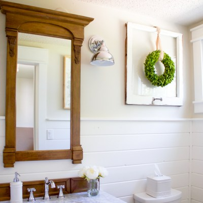 One Room Challenge, Three Months Later: A Farmhouse Style Powder Room Update