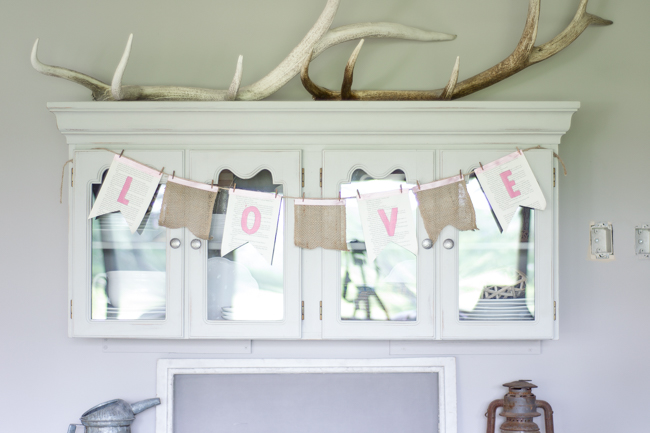 Burlap and Book Page Wreath