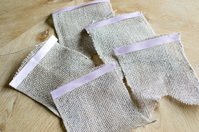 Burlap and Book Page Banner