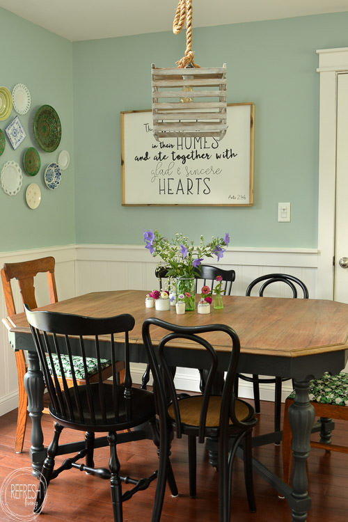 $100 Dining Room Makeover