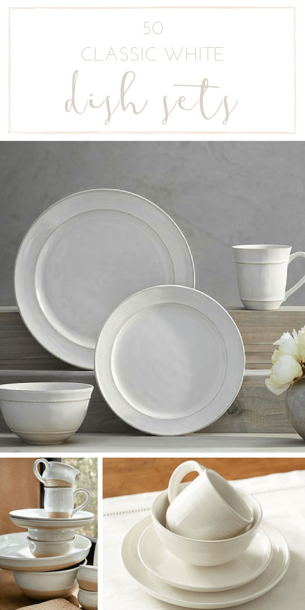 Is there anything more timeless than a lovely white dinnerware set? Don't miss these 50 gorgeous options, all with that classic, farmhouse style.