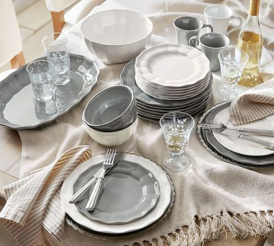 50+ White Dinnerware Sets
