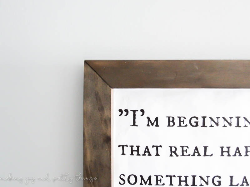 How to Make a Farmhouse Typography Sign