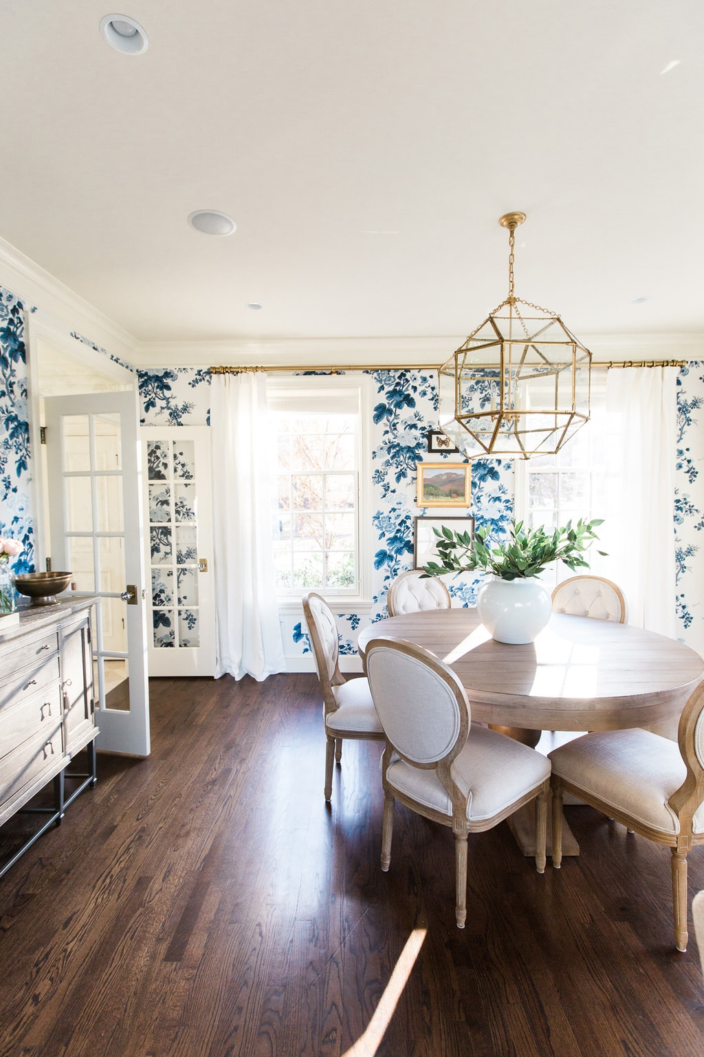 Where to Find the Perfect Farmhouse Style Wallpaper ... on Farmhouse Dining Room Curtains  id=99428