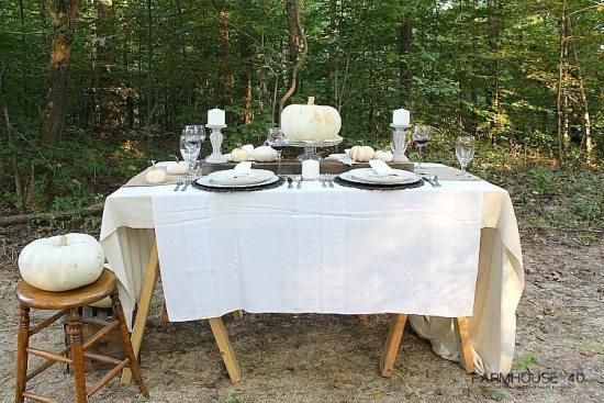 Outdoor Farmhouse Fall Tablescape