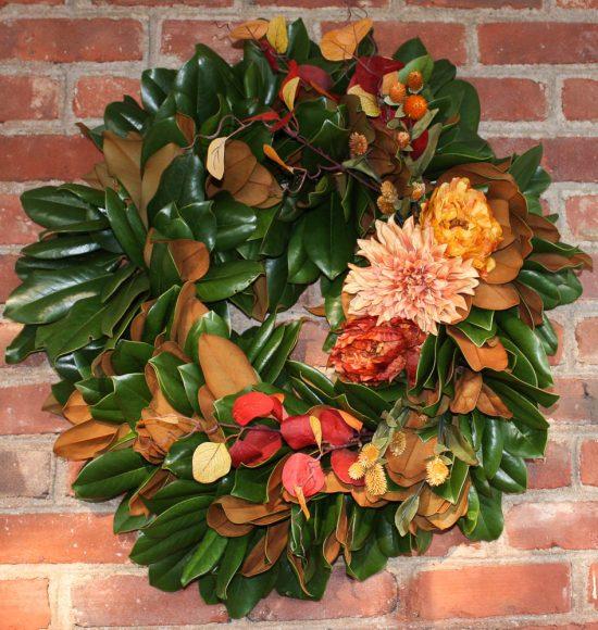 Magnolia Fall Wreath
