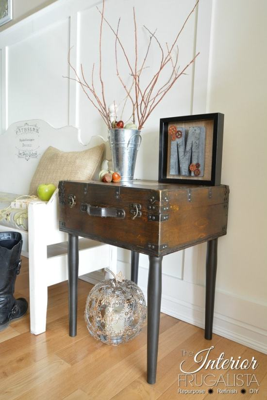 DIY Vintage Trunk Table