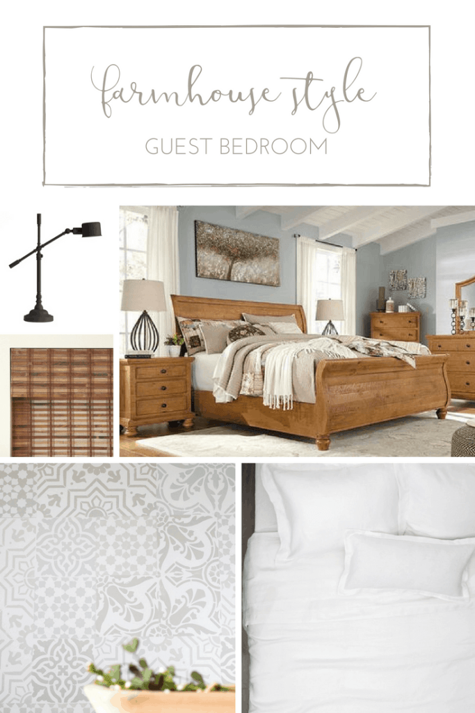 One Room Challenge Week Two A Farmhouse Style Guest Bedroom Custom Style Bedroom Designs Plans