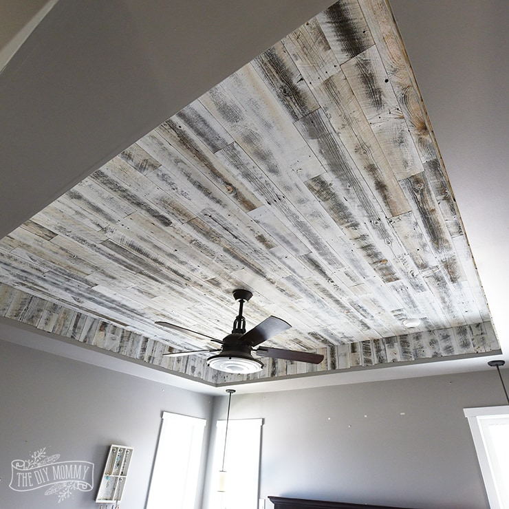 Inexpensive Plank Ceiling White: Reclaimed Wood Feature Wall Ideas