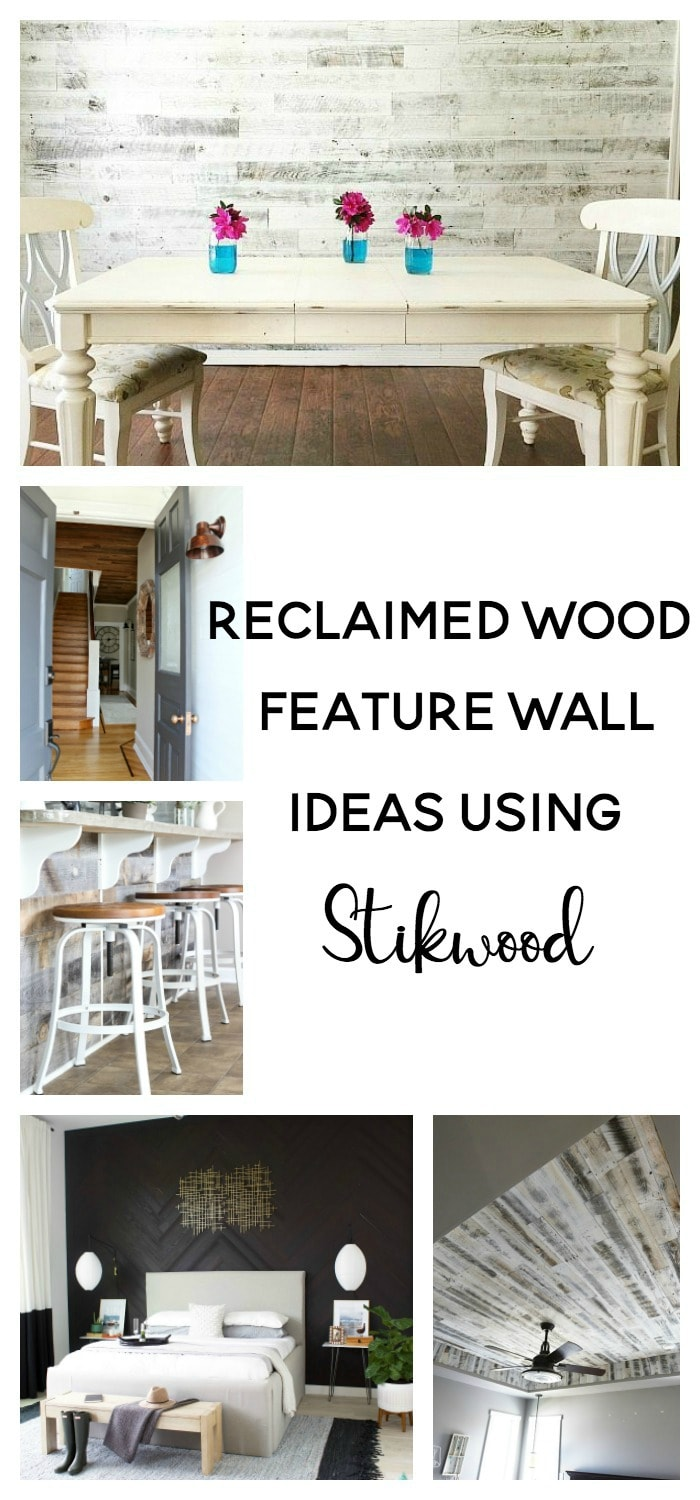 reclaimed wood feature wall ideas using stikwood