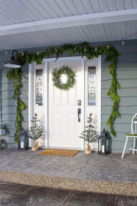 Farmhouse Christmas Porch