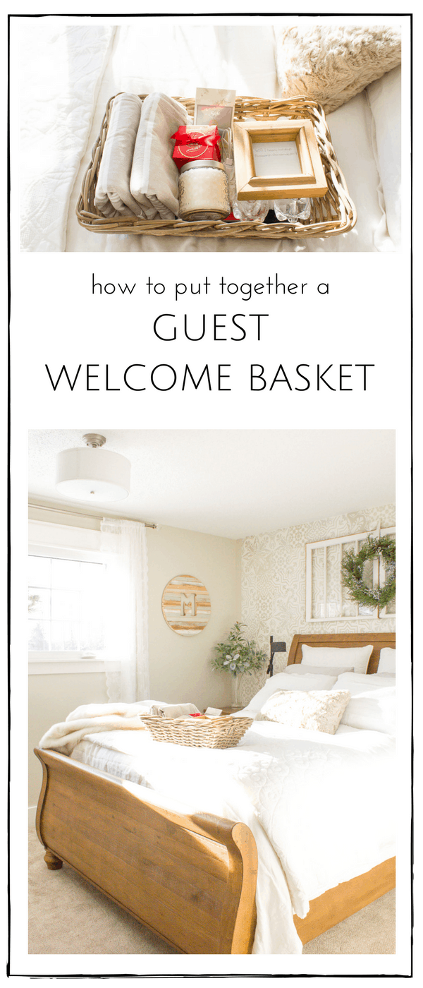 This simple guest welcome basket is such a perfect way to welcome guests to our home, making sure they have everything they need to make their stay with us wonderful! | www.makingitinthemountains.com