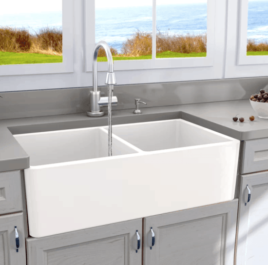 Double Bowl Apron Front Sink