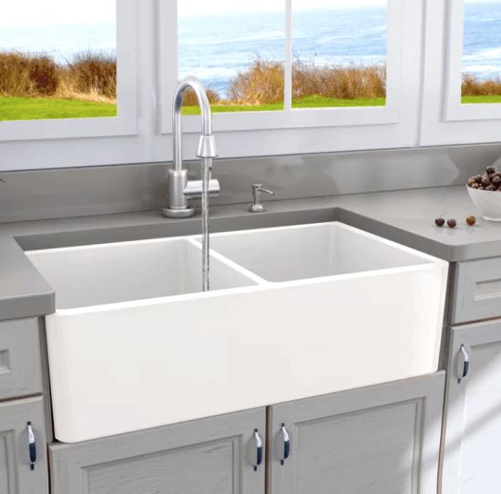 Double Bowl Apron Front Sink