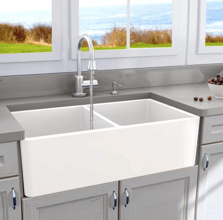 Bon Double Bowl Apron Front Sink