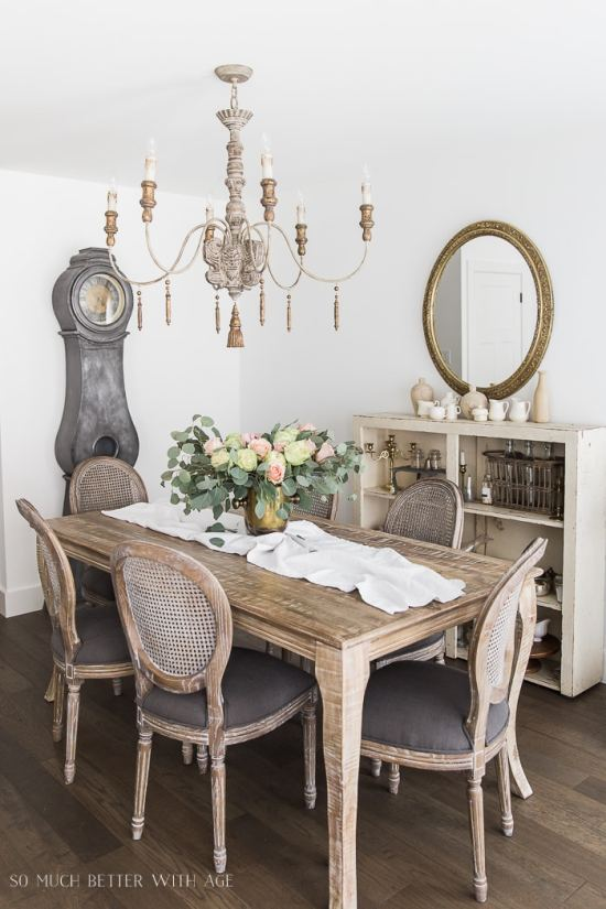 French Country Spring Dining Room