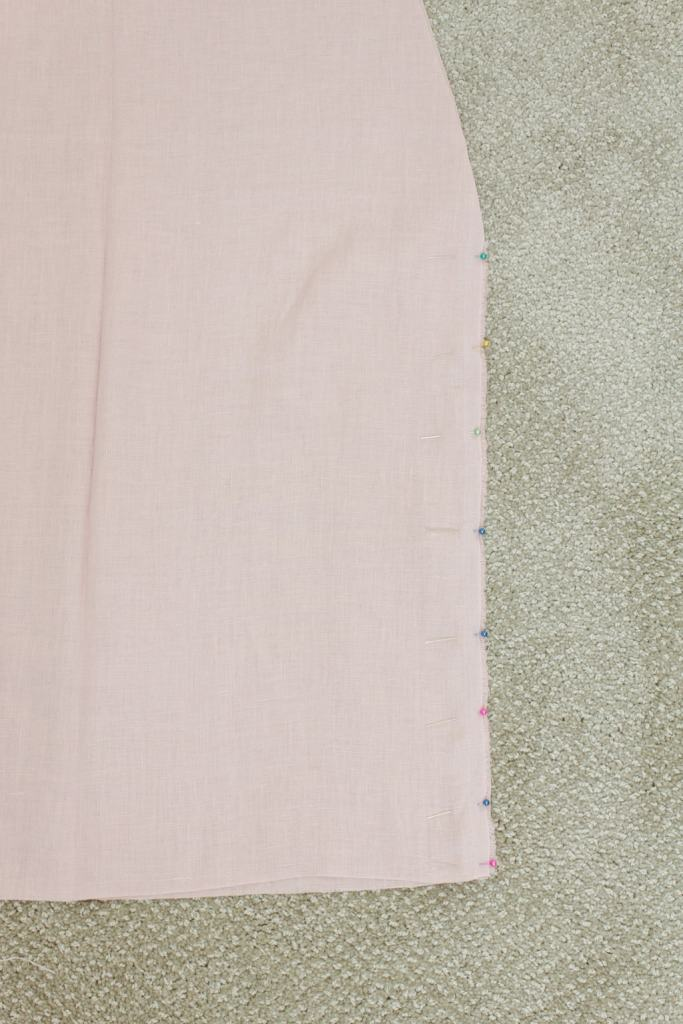 pin sides of fabric