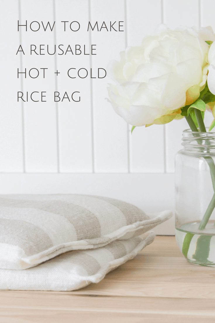 How to Sew a Hot + Cold Rice Bag