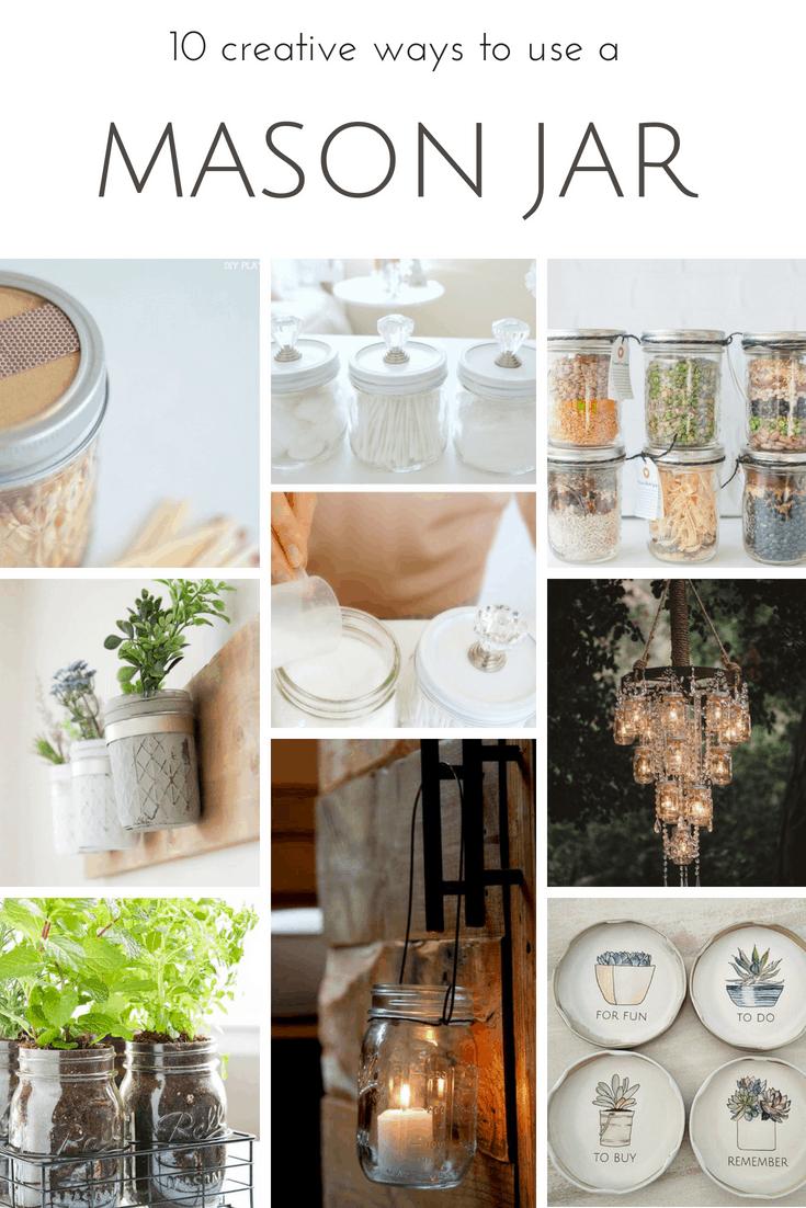 Farmhouse Home: 12 Creative Ways to Use a Mason Jar