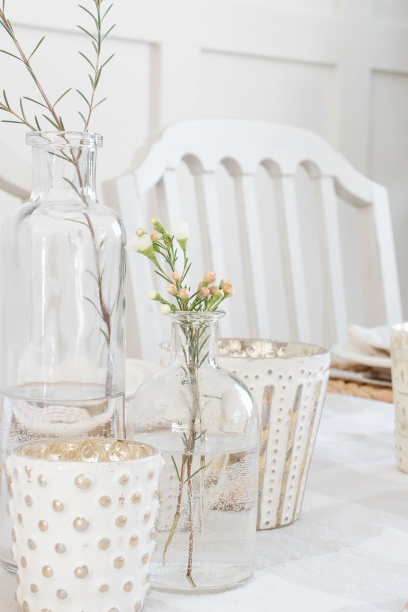 bottle vase centerpiece
