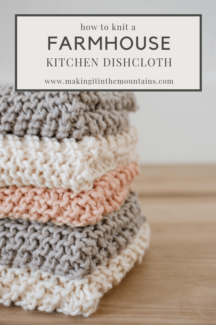 Learn how to knit a farmhouse kitchen dishcloth with this simple, beginner pattern commonly known as Grandmother's Favorite Dishcloth. #knitting #knitdishcloth #knittingpattern #beginnerknitter #dishcloth #farmhousekitchen #farmhouseknit