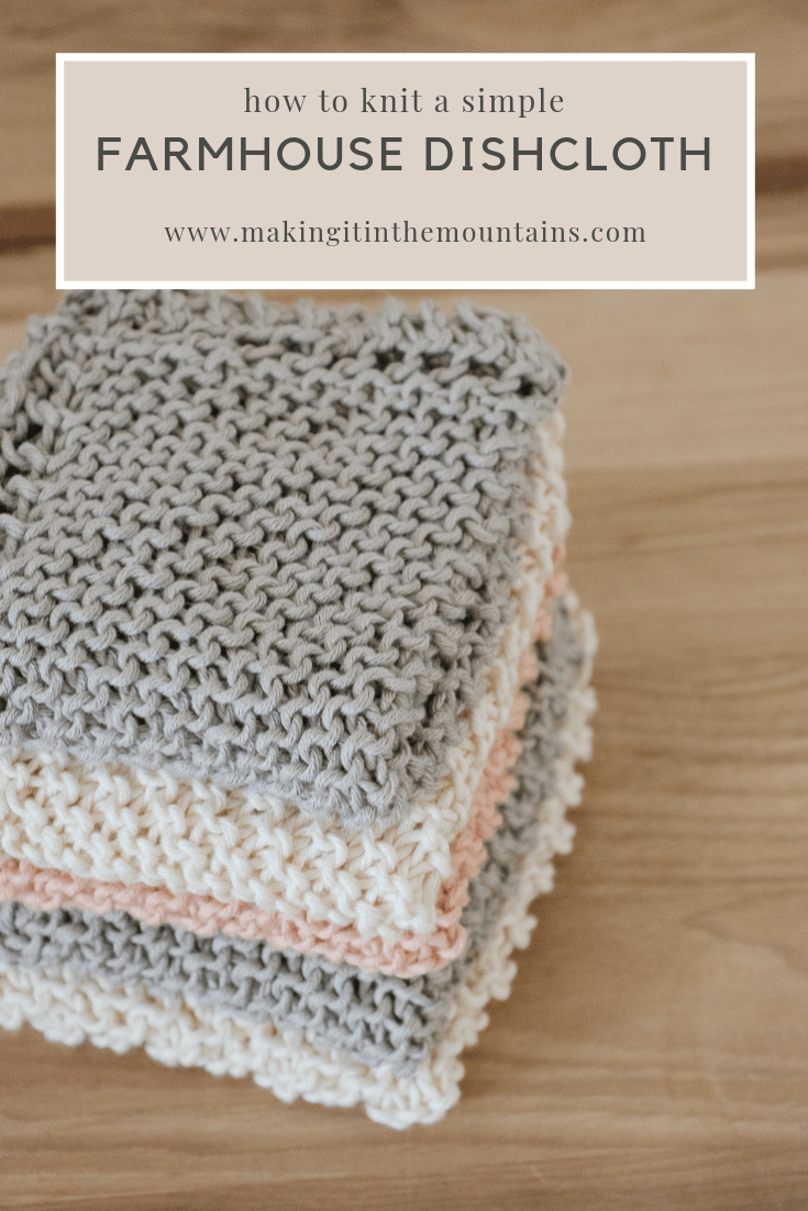 Learn how to knit a farmhouse kitchen dishcloth with this simple, beginner pattern commonly known as Grandmother's Favorite Dishcloth.
