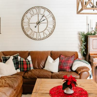 Nostalgic + Cozy Christmas Family Room