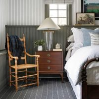 Modern Cottage Style Bedroom Wall Paneling Ideas