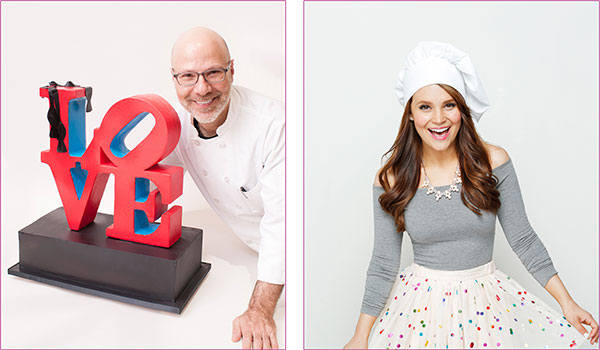 Ron Ben-Israel and Rosanna Pansino. Photo credit: LA Cookie Con