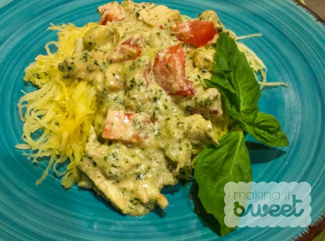 Creamy Pesto Chicken from Making it Sweet