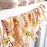DIY Farmhouse-Inspired Lace + Burlap + Peach Blossom Banner