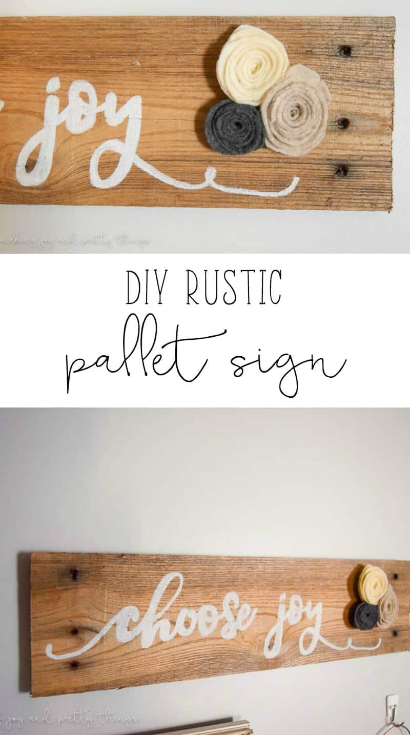 DIY Rustic Pallet Sign   DIY Ideas   DIY Projects   Home Decor   Farmhouse   Fixer Upper Ideas   Home Decor Ideas