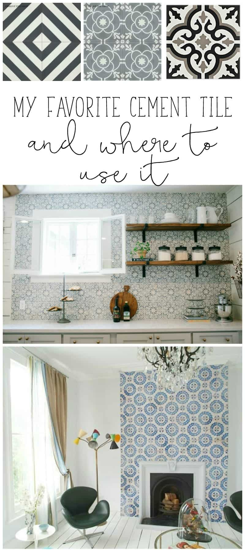 my favorite cement tile and where to use it