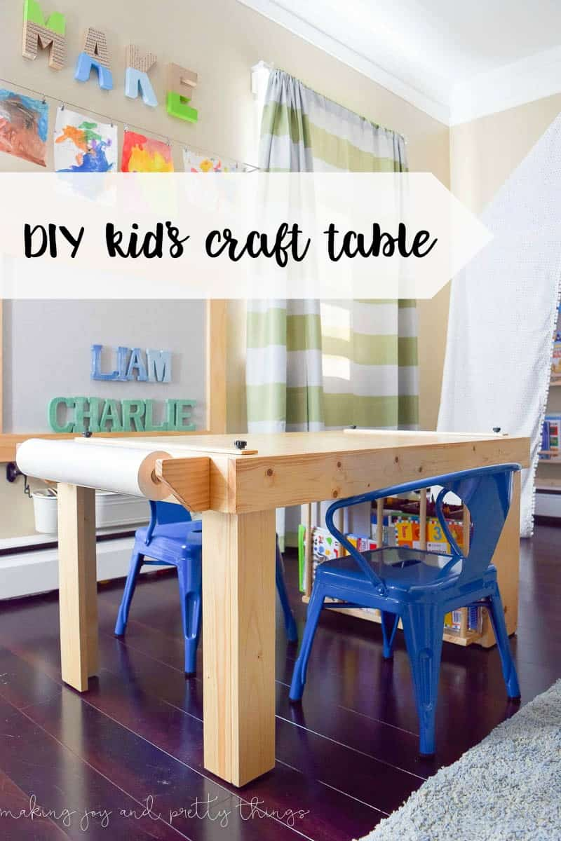 Diy kid 39 s craft table for Table for kids room
