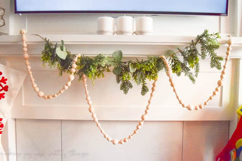 how to make your own wood bead garland | simple farmhouse decor | diy projects | christmas garland