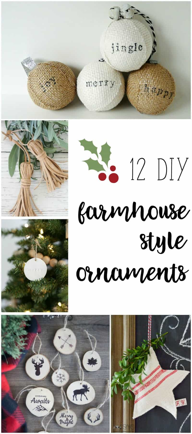 Farmhouse style ornaments for christmas Pinterest home decor crafts christmas