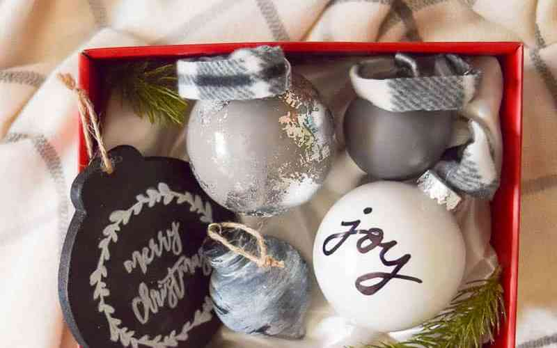 Diy Christmas Ornaments As Gifts.Diy Farmhouse Style Ornaments 6th Day Of Craftmas