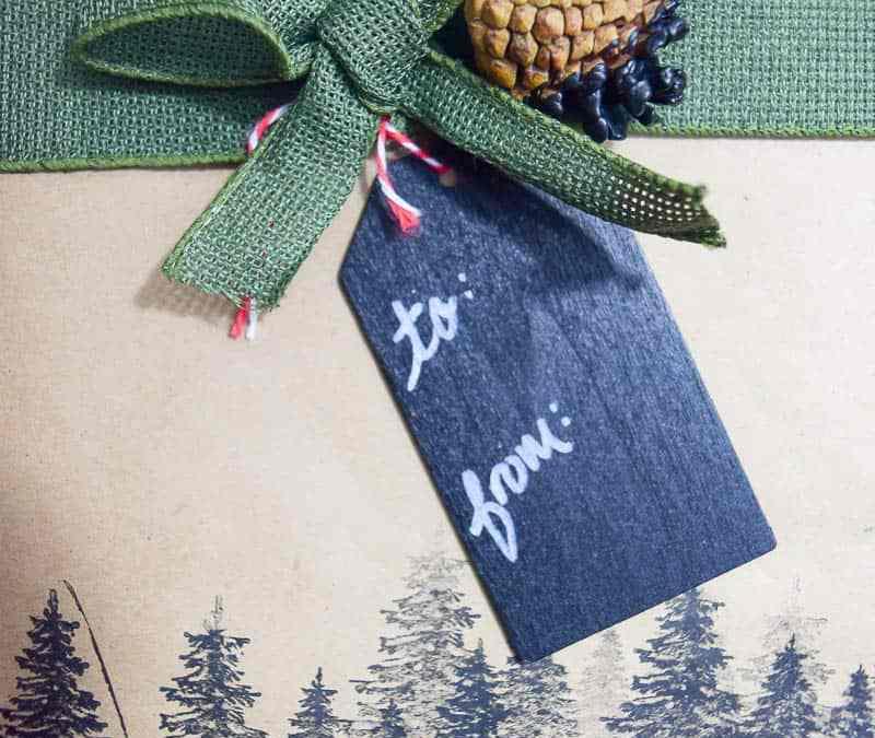 Rustic Gift Wrap Ideas Using Pinecones