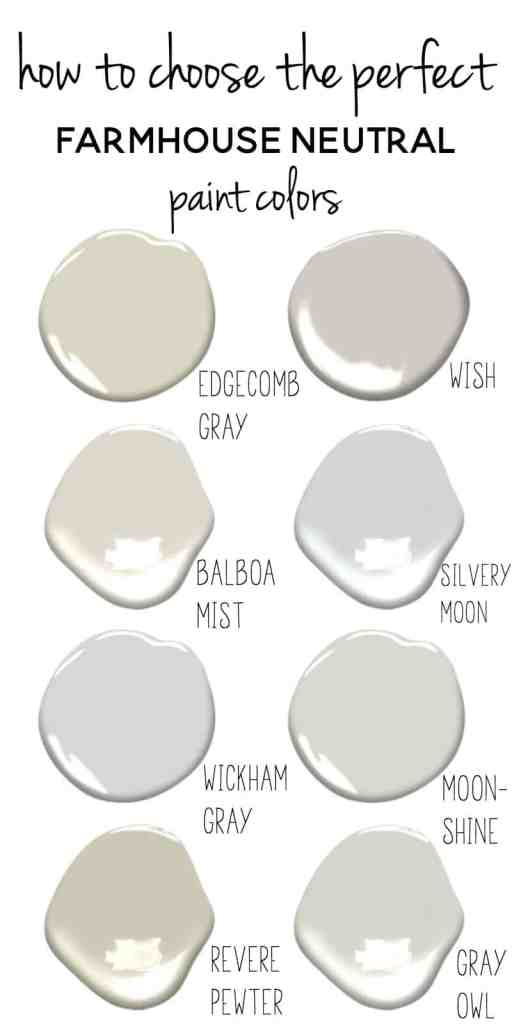 Tips for choosing the perfect farmhouse neutral paint colors for Neutral off white paint