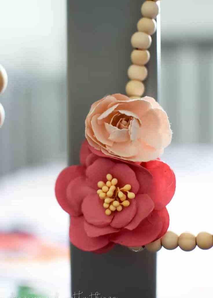 Simple Farmhouse Decor: DIY Wood Bead Hearts