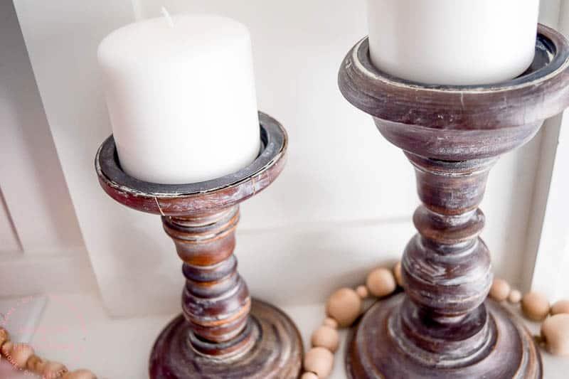 farmhouse style | farmhouse decor | diy home decor | diy ideas | diy candle holders | candle holders diy | easy diy | fixer upper diy | rustic diy ideas