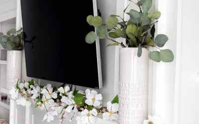 Simple Spring Farmhouse Mantle