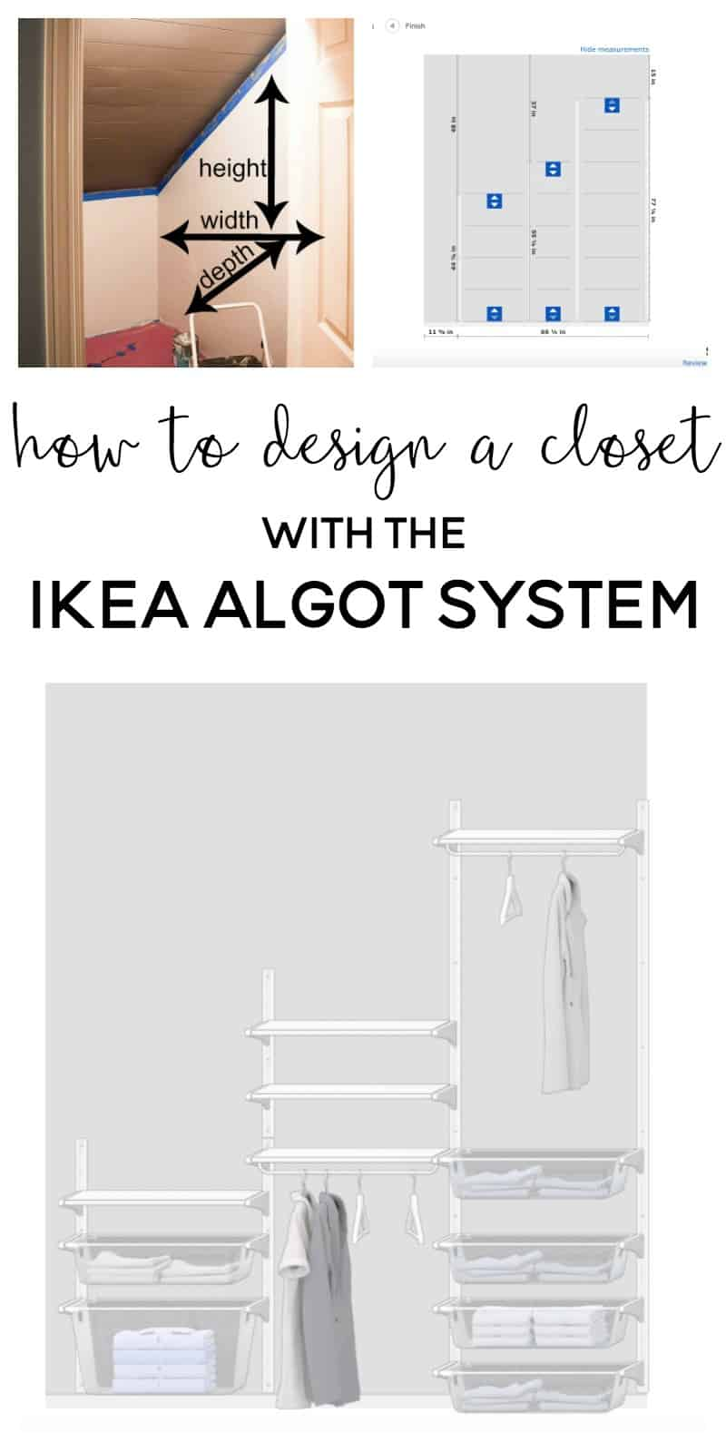 one room challenge week 3 designing the ikea algot closet system. Black Bedroom Furniture Sets. Home Design Ideas