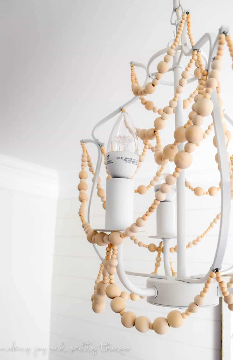 how to make a wood bead chandelier. Black Bedroom Furniture Sets. Home Design Ideas